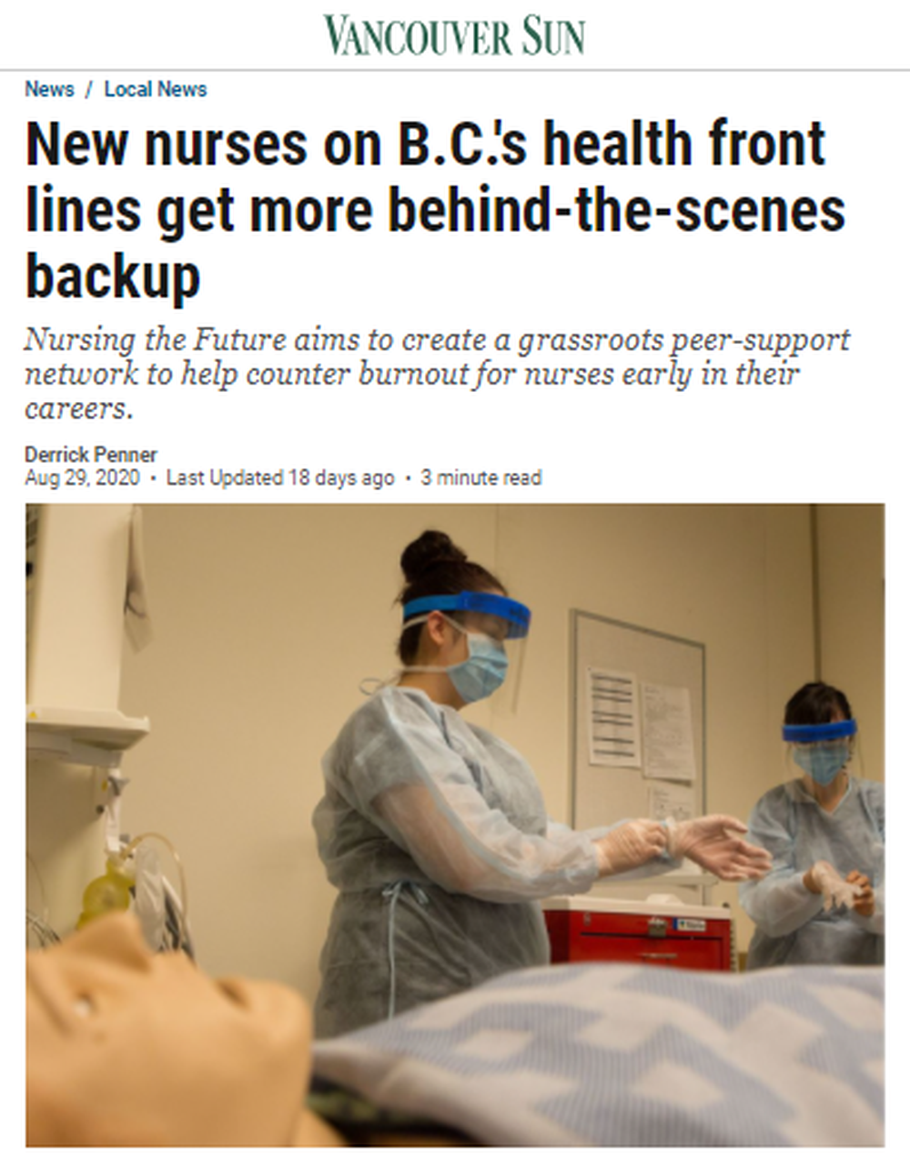 New-nurses-on-B-C-s-front-lines-get-behind-the-scenes-backup-Vancouver-Sun.